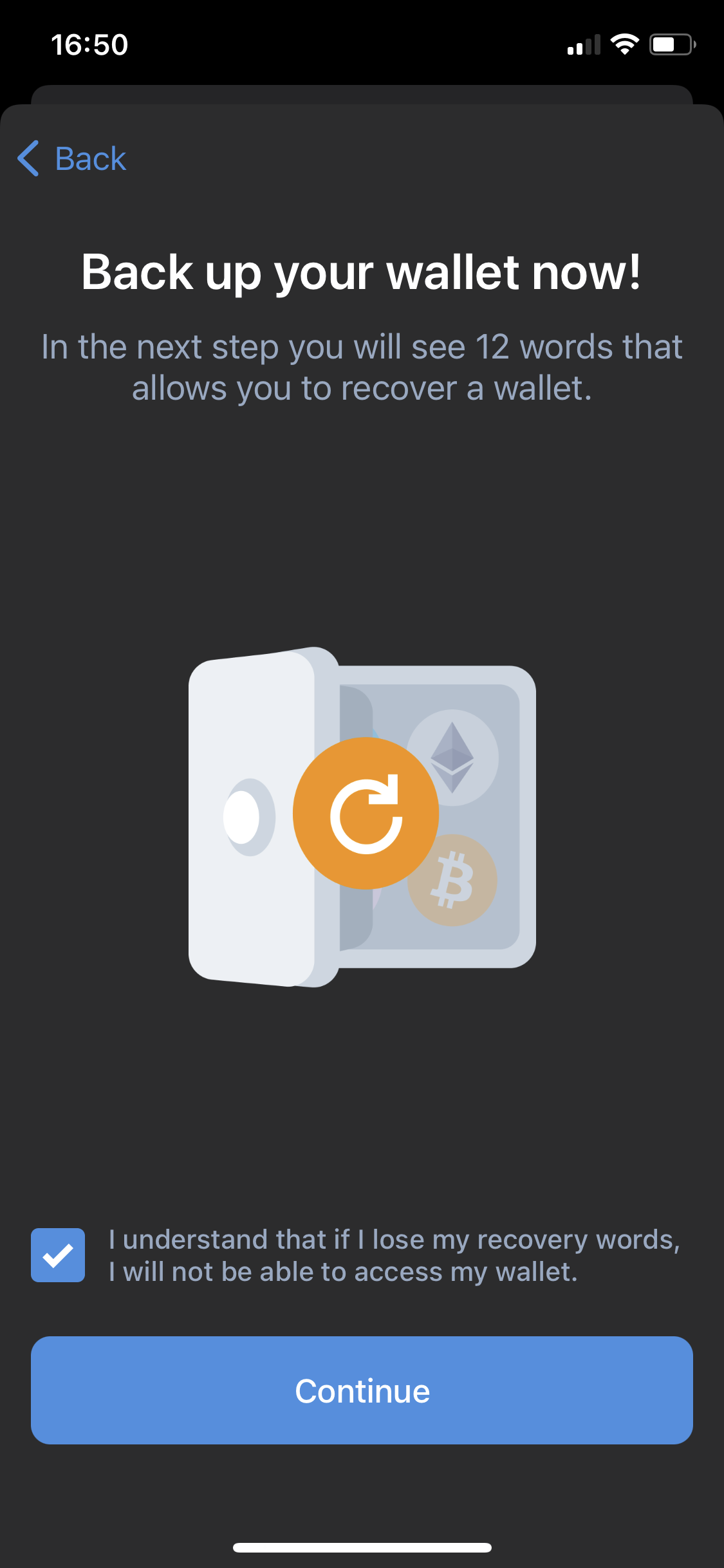 Install MetaMask for your browser